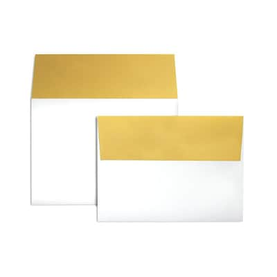 LUX A7 Colorflaps Envelopes (5 1/4 x 7 1/4) 250/Box, Gold Flap (CF4880-07-250)