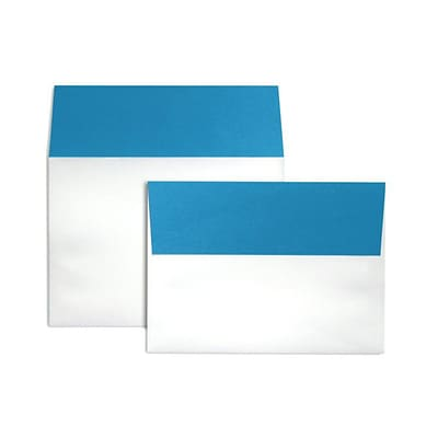LUX A7 Colorflaps Envelopes (5 1/4 x 7 1/4) 250/Box, Pool Flap (CF4880-102-250)
