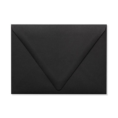 LUX A7 Contour Flap Envelopes (5 1/4 x 7 1/4) 50/Box, Midnight Black (1880-B-50)