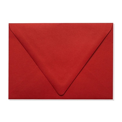 LUX A7 Contour Flap Envelopes (5 1/4 x 7 1/4) 250/Box, Ruby Red (EX-1880-18-250)