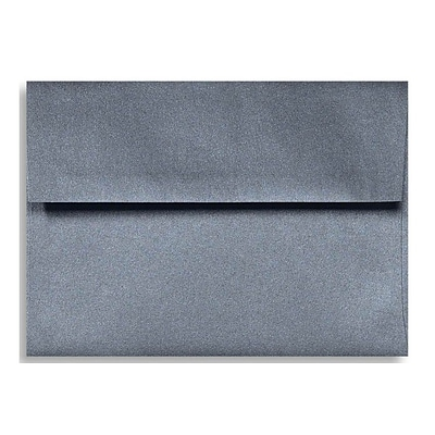LUX A7 Invitation Envelopes (5 1/4 x 7 1/4) 500/Box, Anthracite Metallic (5380-15-500)