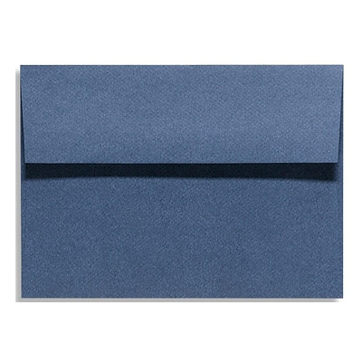 LUX® 5 1/4 x 7 1/4 81lbs. Square Flap Envelopes W/Glue, Dark Wash Blue, 50/Pack