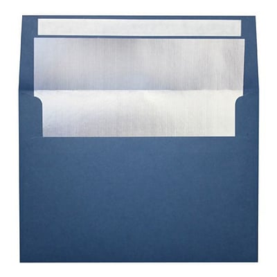 LUX® 80lbs. 5 1/4 x 7 1/4 A7 Invitation Envelopes W/Peel & Press, Navy Blue/Silver, 1000/BX