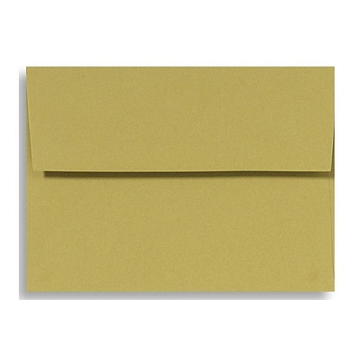 LUX® 70lb 5 1/4x7 1/4 A7 Invitation Envelopes W/Glue, Olive Green, 500/BX