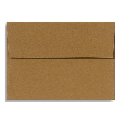 LUX® 70lb. 5 1/4x7 1/4 A7 Invitation Envelopes W/Peel&Press, tobacco brown, 1000/BX