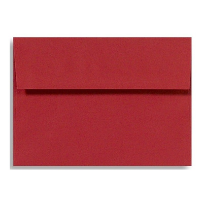 LUX® 5 1/2 x 8 1/8 60lbs. Square Flap Envelopes W/Glue, Holiday Red, 50/pack