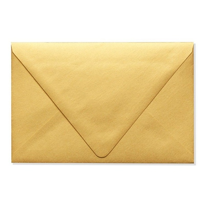 LUX® 80lbs. 5 3/4 x 8 3/4 A9 Invitation Envelopes W/Glue, Gold Metallic, 250/BX