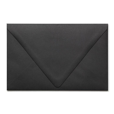 LUX® 80lbs. 5 3/4 x 8 3/4 A9 Invitation Envelopes W/Glue, Midnight Black, 500/BX