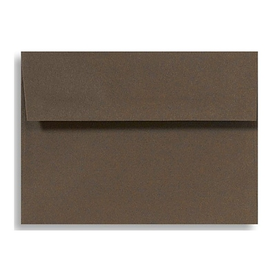 LUX® 70lbs. 5 3/4 x 8 3/4 A9 Invitation Envelopes W/Peel & Press, Chocolate Brown, 500/BX