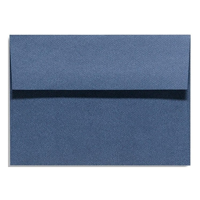 LUX® 5 3/4 x 8 3/4 81lbs. Square Flap Envelopes W/Glue, Dark Wash Blue, 50/Pack