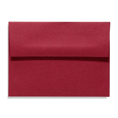 LUX® 70lbs. 5 3/4 x 8 3/4 A9 Invitation Envelopes W/Glue, Garnet Red, 500/BX