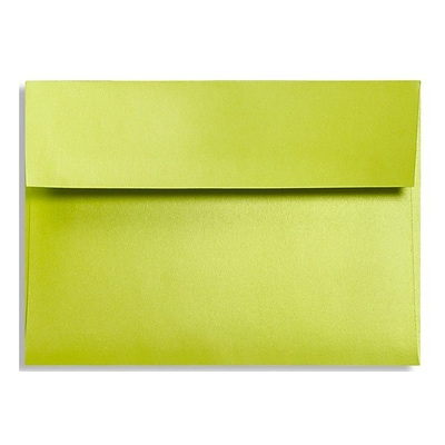 LUX® 5 3/4 x 8 3/4 92lbs. A9 Invitation Envelopes W/Glue, Glowing Green, 50/Pack