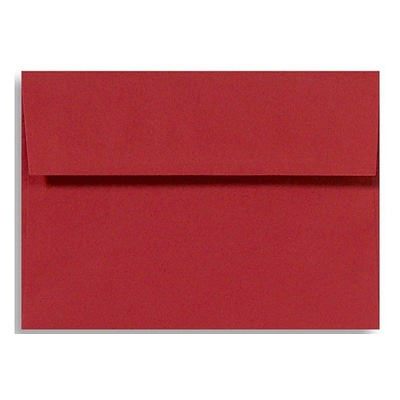 LUX® 5 3/4 x 8 3/4 60lbs. Square Flap Envelopes W/Glue, Holiday Red, 50/Pack