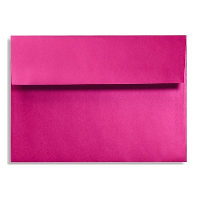 LUX® 5 3/4 x 8 3/4 92lbs. A9 Invitation Envelopes W/Glue, Hottie Pink, 50/Pack