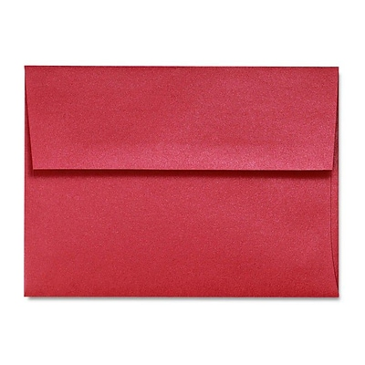 LUX® 5 3/4 x 8 3/4 80lbs. A9 Invitation Envelopes W/Glue, Jupiter Metallic Red Red, 50/Pack