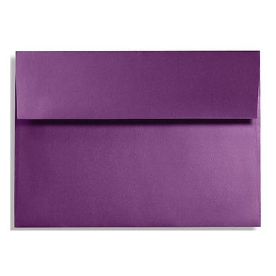 LUX® 5 3/4 x 8 3/4 92lbs. A9 Invitation Envelopes W/Glue, Purple Power, 50/Pack