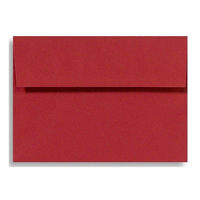 LUX® 5 3/4 x 8 3/4 70lbs. A9 Invitation Envelopes W/Peel & Press, Ruby Red, 50/Pack