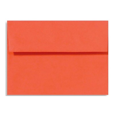 LUX® 5 3/4 x 8 3/4 80lbs. A9 Invitation Envelopes W/Peel & Press, tangerine orange