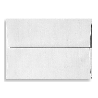 LUX® 5 3/4 x 8 3/4 70lbs. A9 Invitation Envelopes W/Peel & Press, White Linen