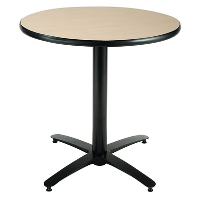 KFI® Seating 29 x 42 Round HPL Pedestal Table With Arched Base, Natural, 2/Pk