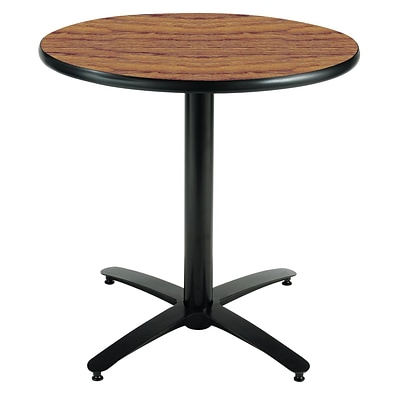 KFI® Seating 29 x 36 Round HPL Pedestal Table With Arched Base, Medium Oak, 2/Pk