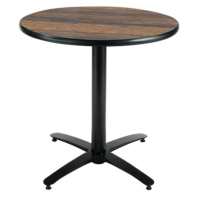 KFI® Seating 29 x 36 Round HPL Pedestal Table With Arched Base, Walnut, 2/Pk
