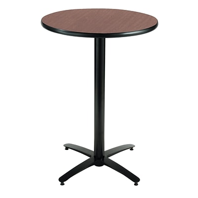 KFI® Seating 38 x 30 Round HPL Pedestal Table With Black Arched Base, Mahogany, 2/Pk