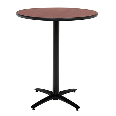 KFI® Seating 38 x 42 Round HPL Pedestal Table With Arched Base, Mahogany, 2/Pk