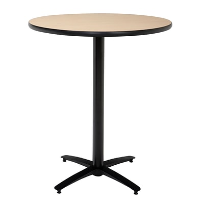 KFI® Seating 38 x 42 Round HPL Pedestal Table With Arched Base, Natural, 2/Pk