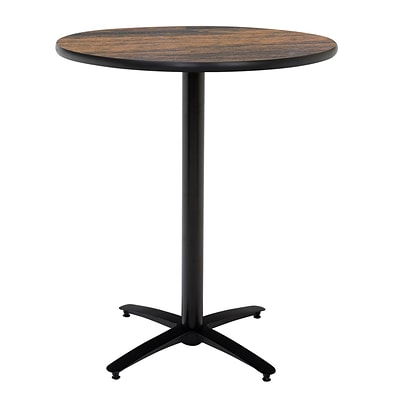 KFI® Seating 38 x 42 Round HPL Pedestal Table With Arched Base, Walnut, 2/Pk
