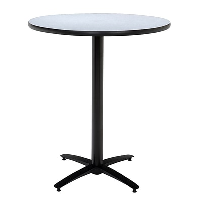 KFI® Seating 38 x 42 Round HPL Pedestal Table With Arched Base, Gray Nebula, 2/Pk