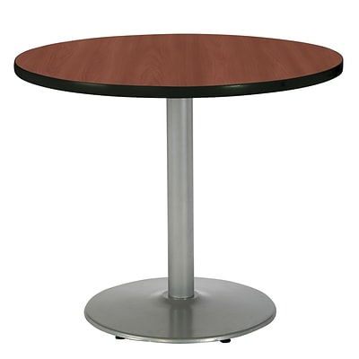 KFI® Seating 29 x 30 Round HPL Pedestal Table With Silver Base, Mahogany, 2/Pk