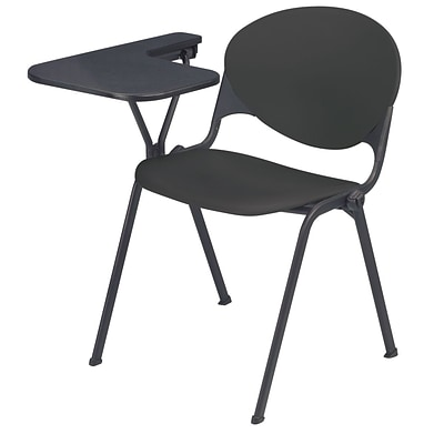 KFI® Seating Polypropylene Chair With Left Hand P-Shaped Writing Tablet, Charcoal, 2/Ct