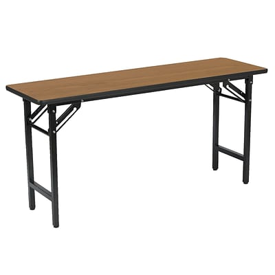 KFI® Seating TFD Series 60W x 24D Melamine Multi-Purpose Training/Utility Table, Medium Oak, 2/Pk