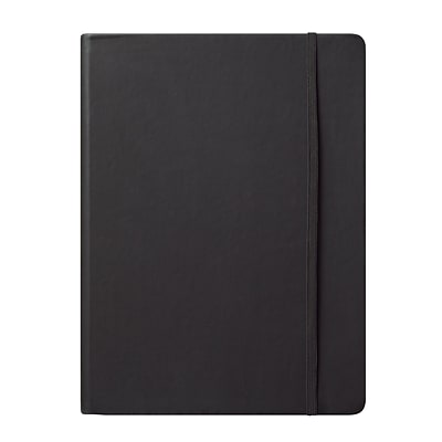 Eccolo™ Faux Leather Large Cool Jazz Journal, Black