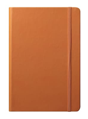 Eccolo™ Faux Leather Medium Cool Jazz Journal, Orange