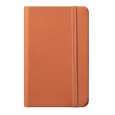 Eccolo™ Faux Leather Small Cool Jazz Pocket Journal, Orange