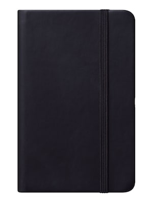 Eccolo™ Faux Leather Small Cool Jazz Pocket Journal, Black