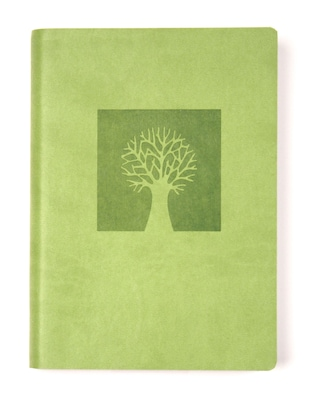 Eccolo™ Italian Faux Leather Tree of Life Lined Journal, Green