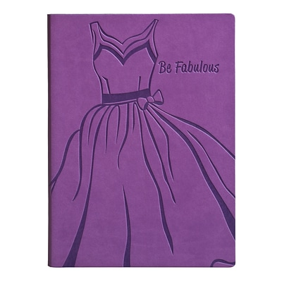 Eccolo™ Italian Faux Leather Be Fabulous Journal, Purple