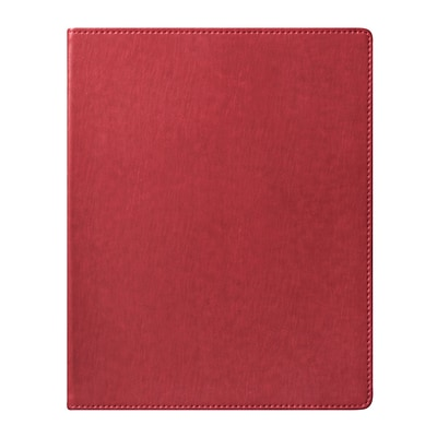 Eccolo™ Faux Leather Simple Desk Size Journal, Red