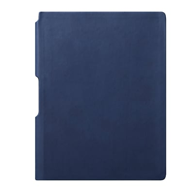 Eccolo™ Faux Leather Groove Jazz Desk Journal, Navy Blue