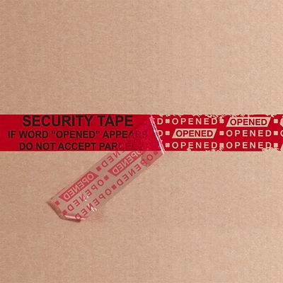 Tape Logic 3 x 60 yds. x 2.5 mil Secure Tape,  Red,  1/Pk