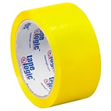Tape Logic 2W x 55 Yards x 2.2 mil Carton Sealing Tape, Yellow, Pack of 6 (T90122Y6PK)