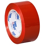 Tape Logic 2 x 110 yds. x 2.2 mil Carton Sealing Tape,  Red,  6/Pk