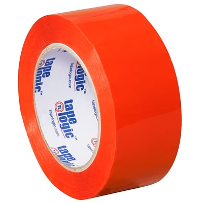 Tape Logic 2 x 110 yds. x 2.2 mil Carton Sealing Tape,  Orange, 6/Pk