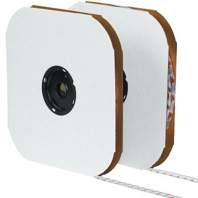 """Tape Logic 1 3/8"""" Individual Tape Loop Dot, White, 600/carton"""