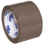 Tape Logic 3 x 110 yds. x 1.6 mil #600 Hot Melt Tape,  Tan, 24/Carton