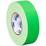 Tape Logic 2 x 50 yds. x 11 mil Gaffers Tape,  Fluorescent Green, 24/Carton