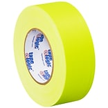 Tape Logic 2 x 50 yds. x 11 mil Gaffers Tape,  Fluorescent Yellow,  3/Pk